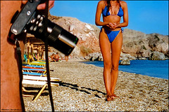 girl on the beach and the photographer - Milos -Scan-acwM5 (tomas teneketzis) Tags: summer woman film beach nikon scan greece milos ellas     tomasteneketzis teneketzis
