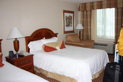 The room at Philadelphia Hilton Garden Inn