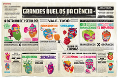 Grandes duelos da cincia (Gabriel Gianordoli) Tags: magazine poster design fight wrestling science editorial