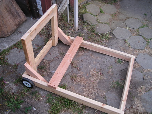 2x4 dolly with additional crossbrace added
