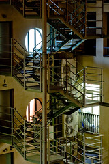 Stairs at Night (Joe Damage) Tags: barcelona night stairs lights spain espana escaleras joepike
