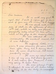 Private Richard Ainscough - letter
