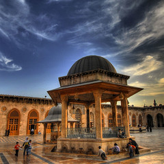 Syria- Aleppo - nella grande moschea  - Explore (rinogas) Tags: old city travel color history tourism archaeology landscape outdoors temple photography ancient nikon ruins nuvole view image citadel columns ruin middleeast cities location east arabia syria d200 middle archaeological hdr aleppo sites siria moschea the thecitadel awesomeshot beautifulphoto nikkor1224dx aplusphoto flickrestrellas hdraward nikonflickraward rinogas hdrdreams