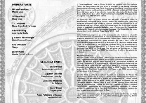 """CONCIERTO EN LA CATEDRAL - CORO """"ÁNGEL BARJA"""" JJMM-ULE - PROGRAMA B"""