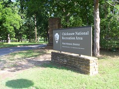 Chickasaw National Recreation Area Sign