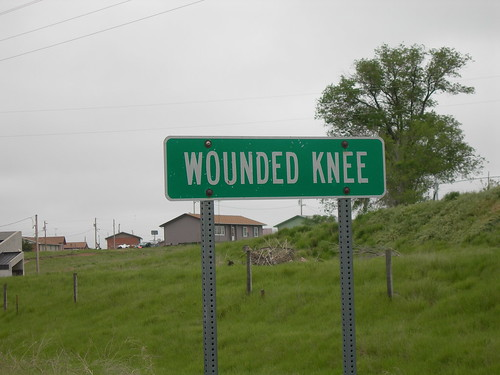 Wounded Knee Road Sign by jimmywayne.