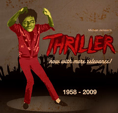 thriller (Iain Burke) Tags: celebrity film june illustration movie dead death design graphicdesign zombie top joke famous humor performance fake dancer charts pop trends mockup 25 singer 1958 albumcover michaeljackson actor undead iain dalton relevance popculture performer plasticsurgery quick 2009 musicvideo heartattack kingofpop thriller june25 jackson5 popicon piratekid michaeljacksonsthriller 1album shockvalue thrillermovie celebritydeath iainburke number1album octopocalypse june25th2009 19582009 thrillermusicvideo topcharts thatpiratekid nowwithmorerelevance iainvandoucheberg vandoucheberg