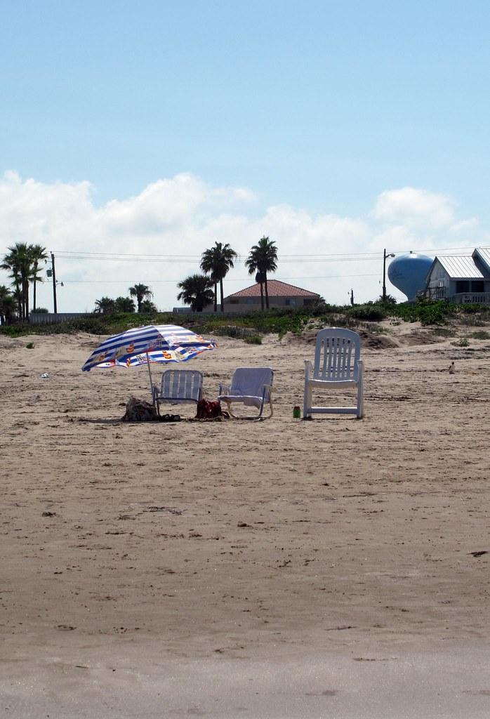 Our spot on the beach