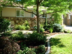 Laura and Andy's (boisebluebird) Tags: trees beauty stone garden landscape michael plantas jardin boise arbor walkway entryway balance luxury pathway toolson syringacompany michaeltoolson boisebluebirdcom httpwwwboisebluebirdcom boiselandscaping boisegardener