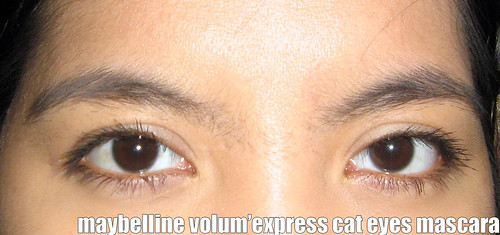 Maybelline Volum'Express Cat Eyes Mascara Up-Close