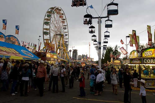 Food vendors on the midway