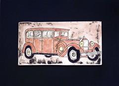 Nice Ride (jackie ramo) Tags: auto art car tile flickr porcelain