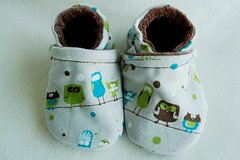 *0-6 Months*  Dotty Owl OBV lined Booties