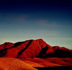 Negev sunset (paul indigo) Tags: red mountains rocks desert negev