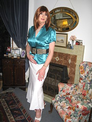 The Mistress is home......... (Julie Bracken) Tags: old red portrait fashion hair tv cd mini skirt crossdressing tgirl transgender mature tranny transvestite pantyhose crossdresser crossdress tg trannie mtf travesti m2f feminized enfemme xdresser tgurl feminised transsister julieb85