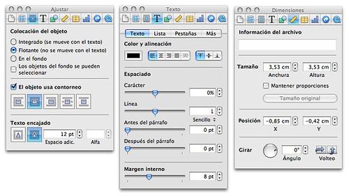 Captura de pantalla de tres inspectores corriendo a la vez en Pages