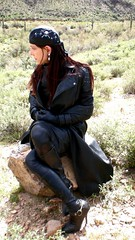 karen Chessman in Total Leather Look in Arizona. 2008 (Karen Chessman: In Trans Umbraculis Fetish Luminis) Tags: leather fashion lady fetish scarf high model shiny highheels boots coat moda skirt karen tgirl transgender jacket gloves tranny heels biker tight transexual mode modell pelle leder kinky kink modele highclass lederhose leatherpants cuero highfashion topmodel cuir stiefel chessman modelle modello transexuelle transgenre karenchessman
