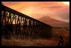 Welcome to my world... (Embrision Arts (f.k.a. Brenvisions)) Tags: lighting bridge light sunset mist castle art nature birds silhouette fog illustration composition digital train photomanipulation photoshop manipulated relax landscape creativity artwork rocks solitude mood moody graphic artistic surrealism edited magic digitalart creative dream surreal atmosphere manipulation calm creation fantasy processing mysterious photomontage mystical dreamy editing paintshoppro lightning colourful unreal dreamworld dreamlike imagemanipulation desolate magical processed photoart mystic narrative steamtrain trainbridge peacefull photoshopart locomotiv manipulatedimages manipulatedphotos creativework aworkofart moodiness aplusphoto gerbren alemdagqualityonlyclub artofimages graphicmaster