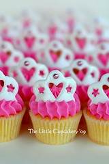 Tiara Mini Cupcakes (TheLittleCupcakery) Tags: birthday pink tiara yellow cake purple princess little blossom mini crown anya tlc fondant cupcakery xirj klairescupcakes