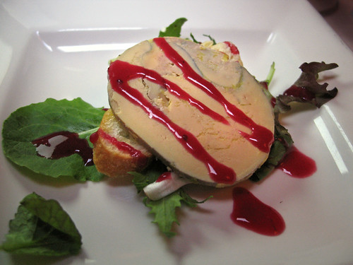 Terrine of Foie Gras with Cranberry Glaze & Organic Baby Greens