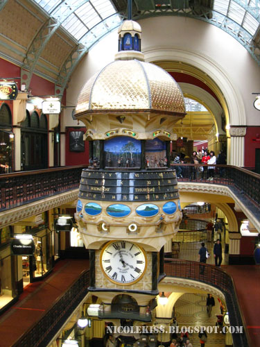 beautiful clock in QVB