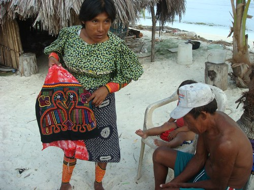 The indígenas Kuna people of the San Blas Islands...