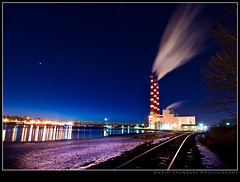 The Cloud Making Machine (Dave the Haligonian) Tags: longexposure nightphotography bridge copyright canada water night stars lights novascotia harbour atlantic maritime halifax dartmouth amurraymackay tuftscove nikond90 davidsaunders thecloudmakingmachine dsc6843nef davethehaligonian