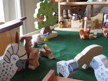 Farm - tree, bunnies and sheep