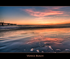 Venice Beach Sunset (szeke) Tags: ocean california venice sunset sky beach water clouds landscape pier losangeles pacific wave foam venicebeach hdr breakingwave photomatix flickrlovers vosplusbellesphotos