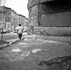 (patrickjoust) Tags: city urban bw usa white house man black 120 6x6 tlr blancoynegro film home america square lens prime us reflex focus flickr fuji tmax scanner united hill patrick twin maryland super row baltimore scan reservoir v developer epson fujifilm medium format neopan 100 druid states manual 500 heights 80 joust developed ricoh biancoenero rowhouse acros blancinegre estados 80mm f35 blancetnoir unidos ricohflex v500 anastigmat schwarzundweiss autaut lovelycity patrickjoust