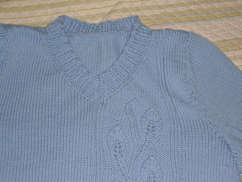 Neck Detail of Mom's Sweater
