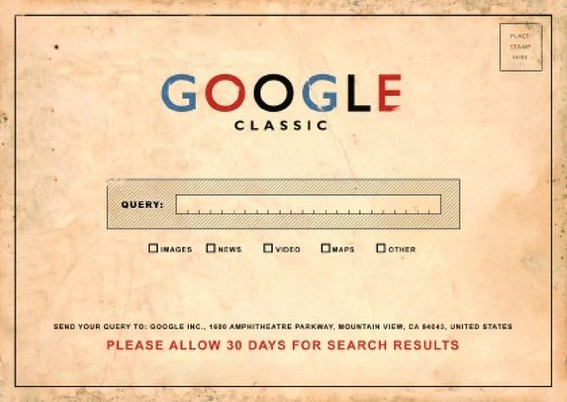 CC photo credit: dullhunk :: Google Classic: Please Allow 30 Days for your Search Results