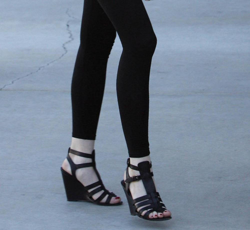 Balenciaga black gladiator wedge sandals Lindsay Lohan 2009 by Nemova.