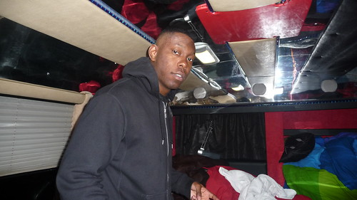 DIZZEE'S CRIB (ON THE TOUR BUS)