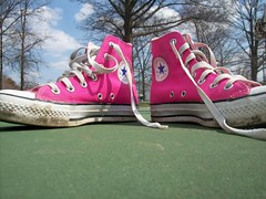 351 (BREananicOLE) Tags: shoes converse hightops kicks allstar chucks chucktaylors allstars strictlypinkconverse