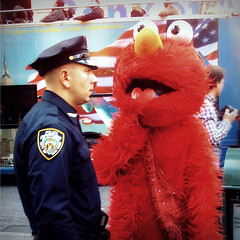 """Don't Harass the Tourists, Elmo!"" (antonkawasaki) Tags: nyc newyorkcity funny humorous elmo streetphotography police nypd tourists explore timesquare cop officer seasamestreet iphone irregular tourbus explored weirdscene stphotographia antonkawasaki thedontseries elmointroublewiththelaw dontharrasthetouristselmo elmolookinginnocent elmowantsatickle"