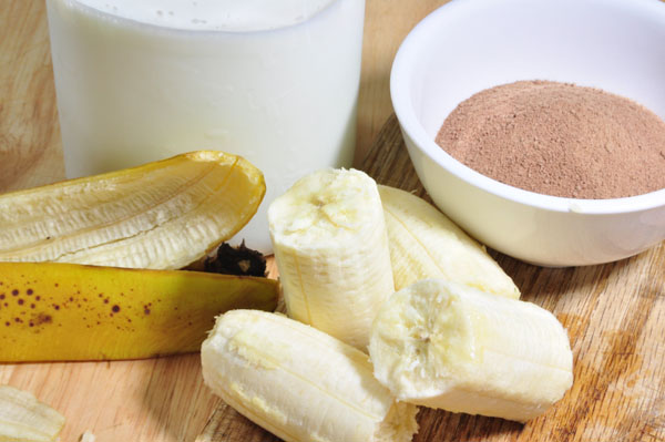 banana, milk, chocolate withi malt extract