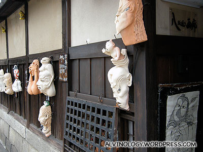 A house that specialises in making ghost masks and figurines