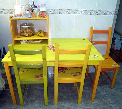 Mesa de la cocina.
