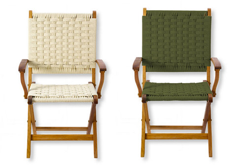 L.l.bean Woven Outdoor Chairs