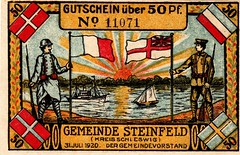 Steinfeld kr. Schleswig, 50 pf, 1920, Plebiscit (Iliazd) Tags: germany denmark dansk notgeld papermoney slesvig plebiscit 19171923 germancurrencyinflationary inflatioin germanpapermoney