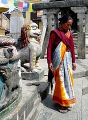 Swayambhunath, Katmandu, Nepal (balavenise) Tags: sari swayambhunath devnagari  shrine buddha flickrgiants buddhism nepal katmandu religion prire prayer god