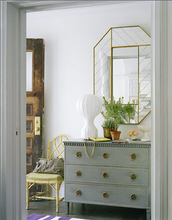 White Dresser and Mirror by decorology.