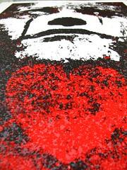 Final Red (bjornery) Tags: print screenprint jake jacob minneapolis printmaking burlesque bannon serigraph mikedavis burlesqueofnorthamerica winterheart artreproduction bjornchristianson benlafond weswinship winterhearts