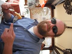 Neil at the Taverna (furbyx4) Tags: greece ellada