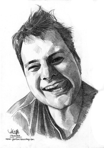 Pencil portrait of Tomaz