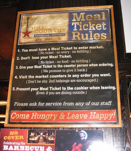 Hill Country Barbecue Market Rules