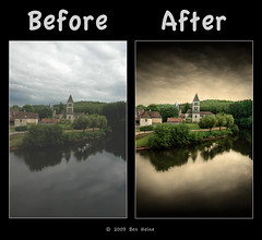 "Before/After - ""The Silence of The Village"" (Ben Heine) Tags: travel light shadow wild sun reflection nature sepia photoshop season poster landscape photography countryside frames mac scenery poem glow photographie time nikond70 earth geometry lumire couleurs quality magic details shapes stroke philosophy manipulation harmony memory poet photoediting planet terre trick spirituality portfolio conceptual curve paysage technique wacom retouching tutorial edit rendering beforeafter specialeffects sauvage avantaprs trucs originalversion godspainting digitalshot benheine effetsspciaux graphicenhancement editingtools tablettegraphique finalwork colourscolors hubertlebizay hubzay flickrunited kleurentones"