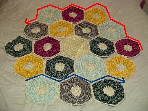 how to join hexagon motifs