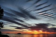 Stripes in the sky (larigan.) Tags: sunset sky clouds fjord lesund aalesund heavenandearth anawesomeshot larigan valderyfjord phamilton gettyimagesnorwayq1